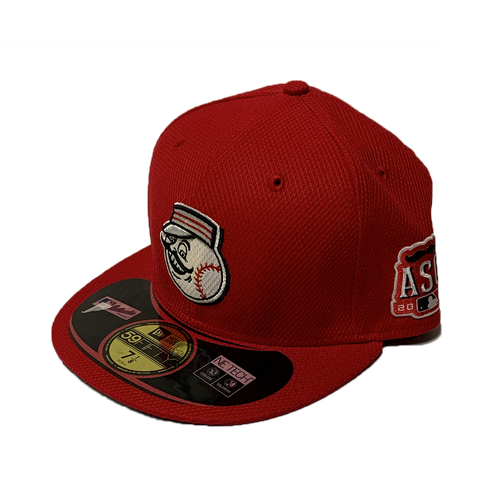 New Era Cincinnati Reds Solid Red ASG Patch 2015 Diamond Era Authentic On-Field 59Fifty Fitted Hat