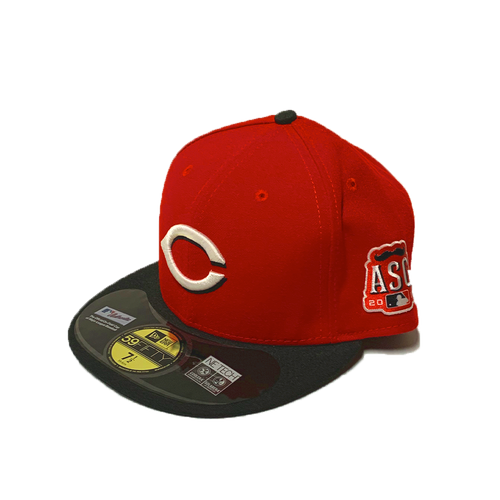 New Era Cincinnati Reds Red/Black ASG Patch 2015 Authentic On-Field 59Fifty Fitted Hat