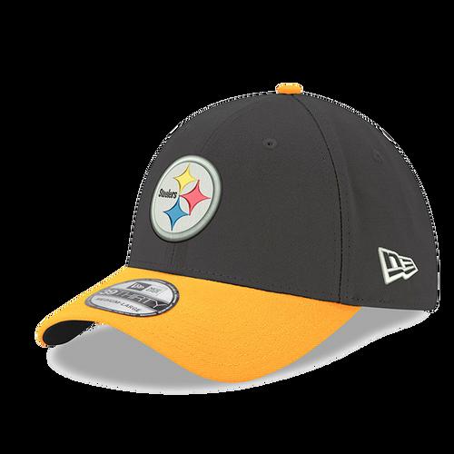 Pittsburgh Steelers New Era Black/Yellow 39Thirty Flex-Fit Hat