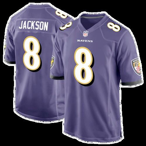 Youth Nike Baltimore Ravens Lamar Jackson Purple Game Jersey