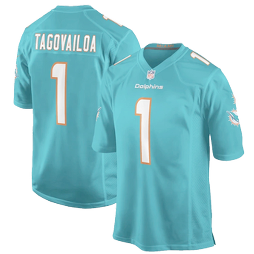 Youth Miami Dolphins Tua Tagovailoa Aqua Game Jersey