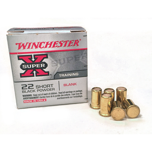 Winchester .22 Cal. Ex-loud Black Powder Short Blanks
