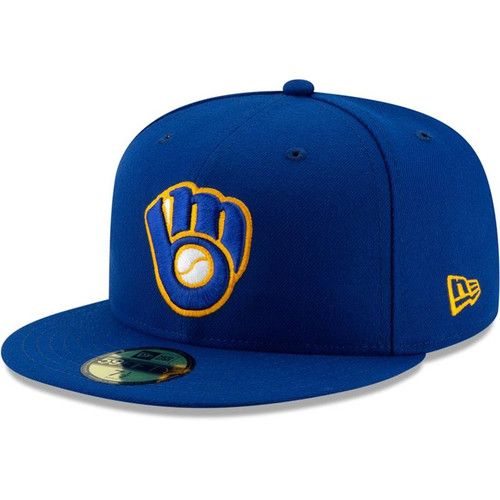 Milwaukee Brewers New Era Royal Alternate Authentic Collection On-Field 59FIFTY Fitted Hat
