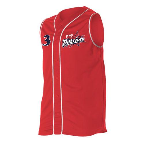 PYO Patriots Alleson Faux Front Baseball Vest