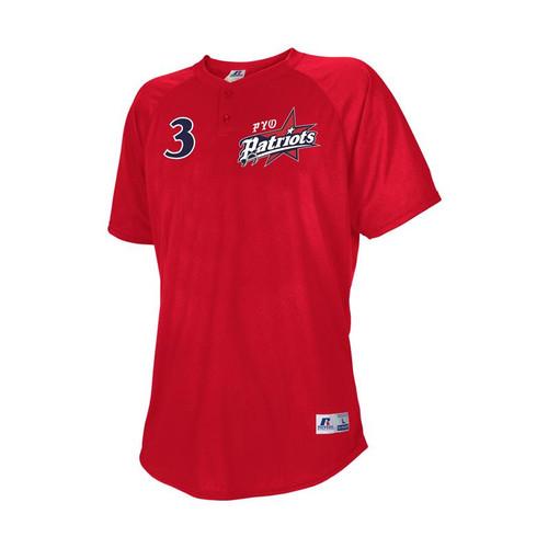 PYO Patriots Russell Stitched 2-Button Baseball Jersey