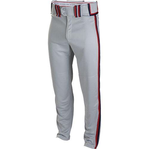 PYO Patriots Rawlings Premium Baseball Semi-Relaxed Fit Braided Pants
