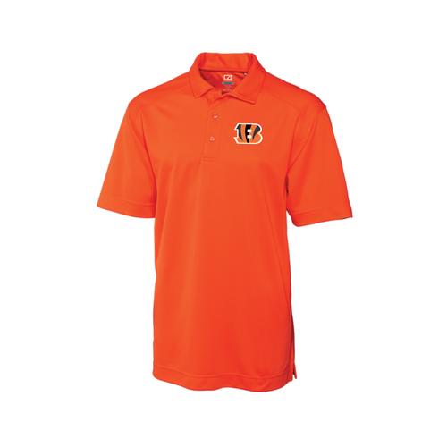 Cincinnati Bengals Orange Men's Cutter & Buck DryTec Genre Polo