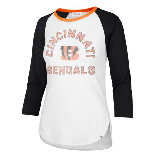 Cincinnati Bengals '47 Brand Ladies Overturn Frankie Raglan Tee