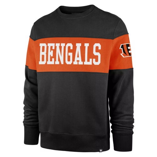 Cincinnati Bengals '47 Brand Men's Black Interstate Crew Sweatshirt