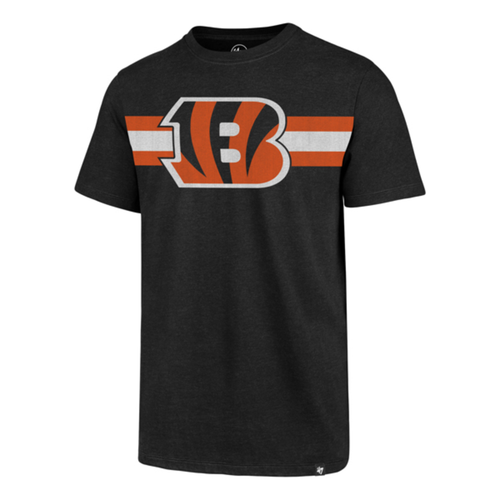 Cincinnati Bengals '47 Brand Men's Black Coast To Coast Short Sleeve Tee