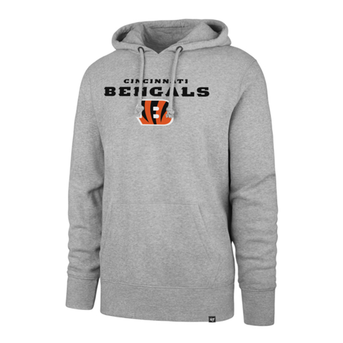 Cincinnati Bengals '47 Brand Men's Slate Grey Pregame Headline Hoodie