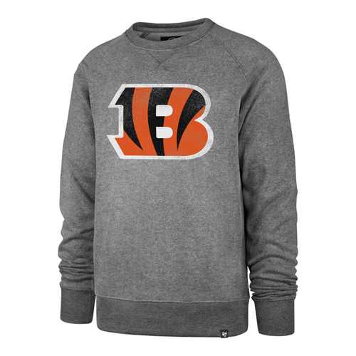 Cincinnati Bengals '47 Brand Men's Vintage Grey Distressed Imprint Match Crew Sweatshirt