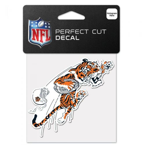 """Cincinnati Bengals Retro Logo 4""""x4"""" Perfect Cut Color Decal"""
