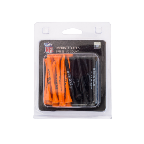 Cincinnati Bengals Imprinted Golf Tees - 50 Pack