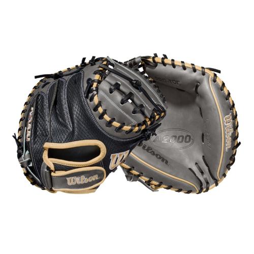 """Wilson 2021 A2000 PF33SS SuperSkin Pedroia Fit 33"""" Baseball Catcher's Mitt"""