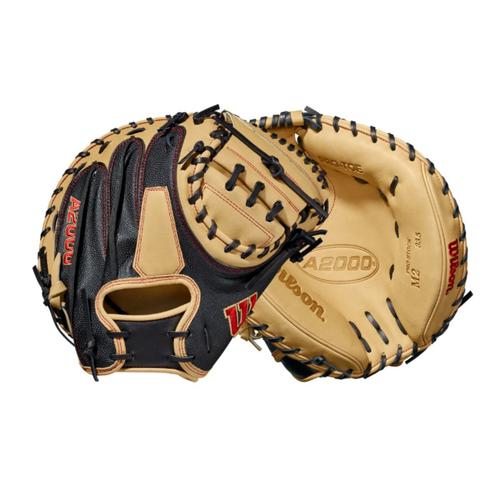 """Wilson 2021 A2000 M2SS SuperSkin 33.5"""" Baseball Catcher's Mitt"""