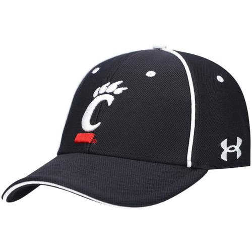 Cincinnati Bearcats Under Armour Team Sideline Blitzing Accent Performance Black Adjustable Hat