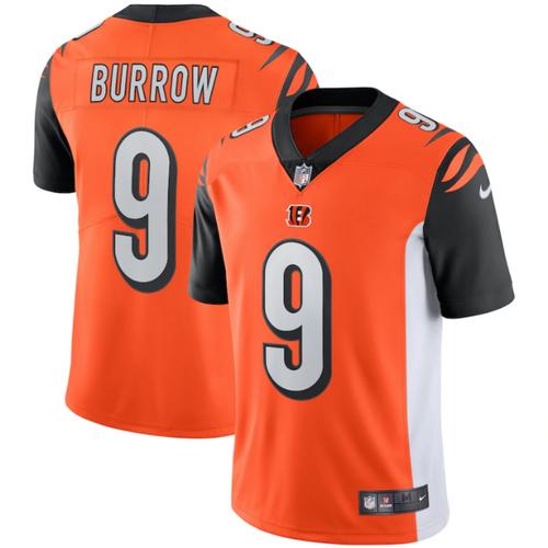 Joe Burrow Nike Orange Cincinnati Bengals Vapor Limited Jersey