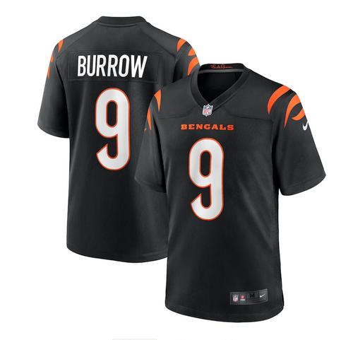 Men's Nike Joe Burrow Black Cincinnati Bengals Game Jersey