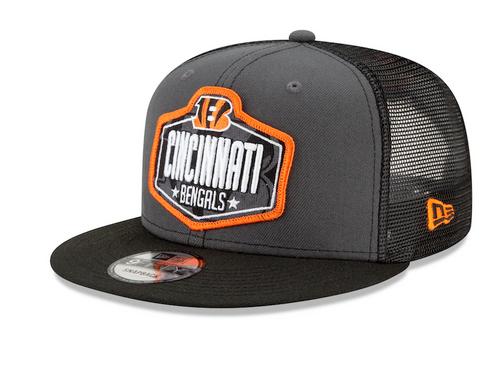 Men's Cincinnati Bengals New Era Graphite/Black 2021 NFL Draft Trucker 9FIFTY Snapback Adjustable Hat
