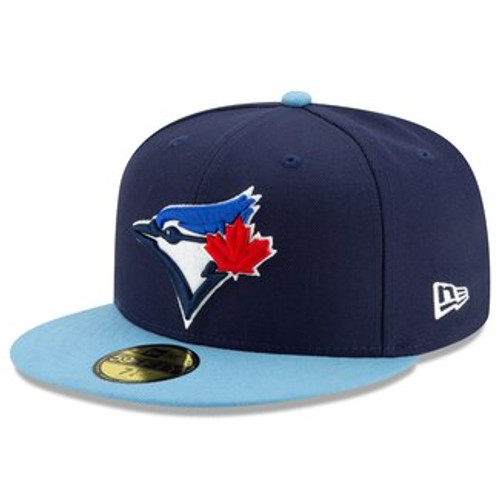 Toronto Blue Jays New Era Navy/Powder Blue Alt 4 Authentic Collection On Field 59FIFTY Fitted Hat