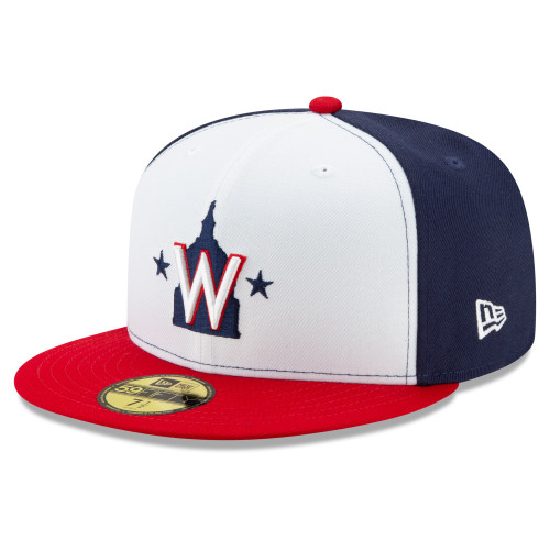 Washington Nationals New Era White/Navy/Red Alt 2 Authentic Collection On Field 59FIFTY Performance Fitted