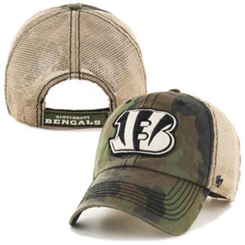 Cincinnati Bengals 47' Brand Camo Burnett Clean Up Adjustable Hat