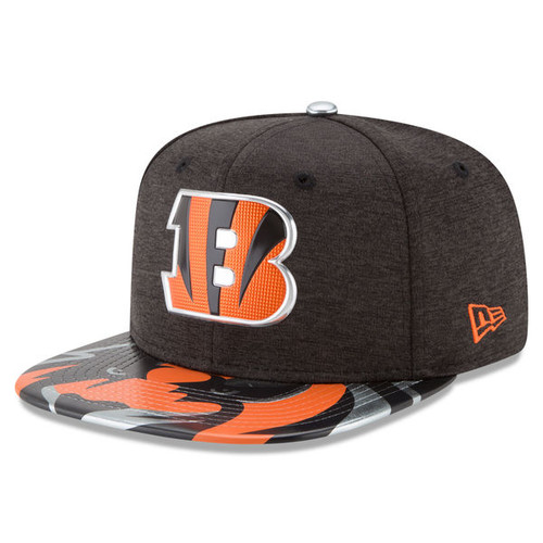 Cincinnati Bengals New Era Black 2017 NFL Draft On Stage Original Fit 9FIFTY Snapback Adjustable Hat
