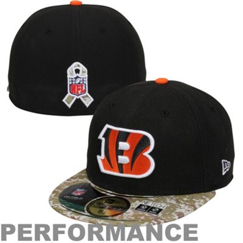 Cincinnati Bengals New Era Black/Digital Camo Salute to Service On-Field 59FIFTY Fitted Hat