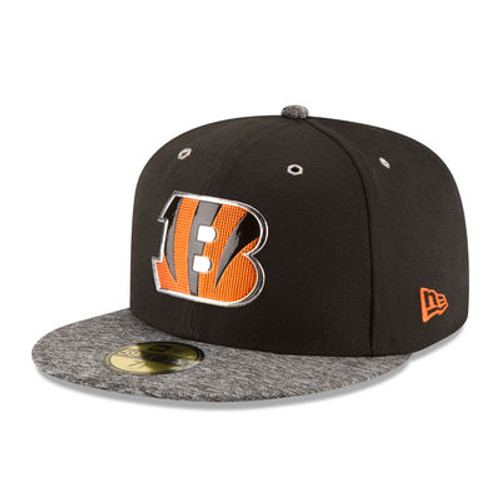 Cincinnati Bengals New Era Black/Heathered Gray 2016 NFL Draft On Stage 59FIFTY Fitted Hat