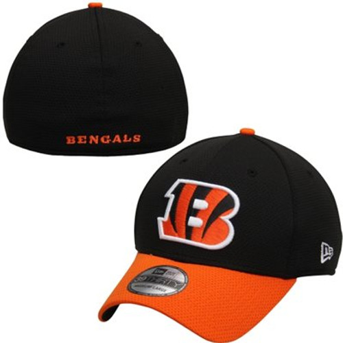 Cincinnati Bengals New Era Black/Orange Fan Training Camp Reverse 39THIRTY Flex Hat