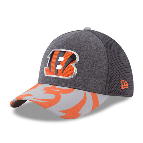 Cincinnati Bengals New Era Graphite 2017 NFL Draft Spotlight 39THIRTY Flex Hat