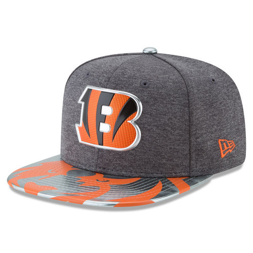 Cincinnati Bengals New Era Graphite 2017 NFL Draft Spotlight Original Fit 9FIFTY Snapback Adjustable Hat