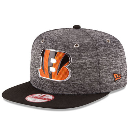 Cincinnati Bengals New Era Heathered Gray/Black 2016 NFL Draft Original Fit 9FIFTY Snapback Adjustable Hat