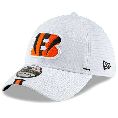 Cincinnati Bengals New Era White 2019 NFL Training Camp Official 39THIRTY Flex Hat