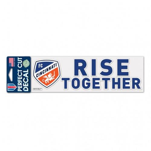"""FC Cincinnati 3"""" x 10"""" Rise Together Perfect Cut Decal"""