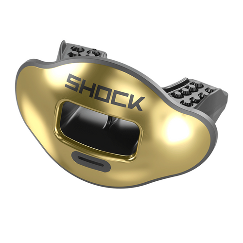 Shock Doctor Chrome Gold Max AirFlow Football Mouthguard