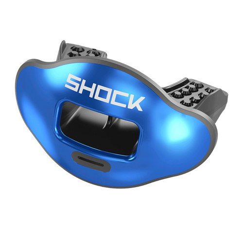 Shock Doctor Chrome Royal Solid Max AirFlow Football Mouthguard
