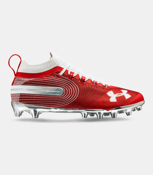 Men's UA Spotlight MC Football Cleats Red