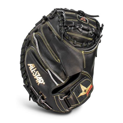"""All-Star CM3000SBK Pro Elite Solid Black 33.5"""" Catcher's Mitt"""