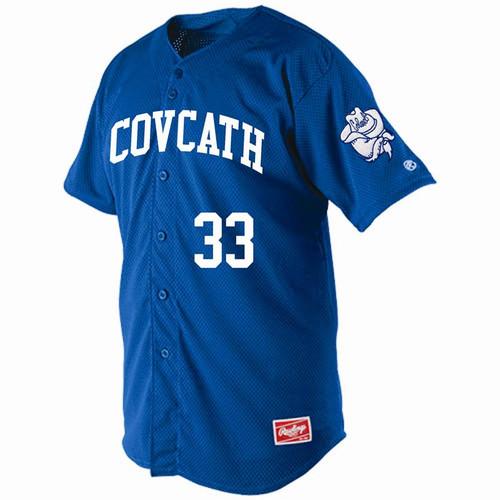 Cov Cath Baseball Player Required Rawlings Royal Mesh Jersey