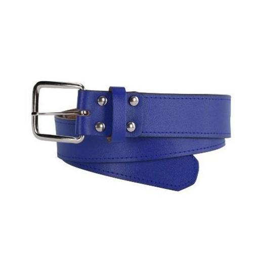 Cov Cath Baseball Royal Leather Belt