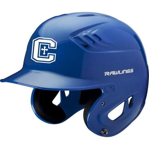 Cov Cath Baseball Royal Rawlings Batters Helmet