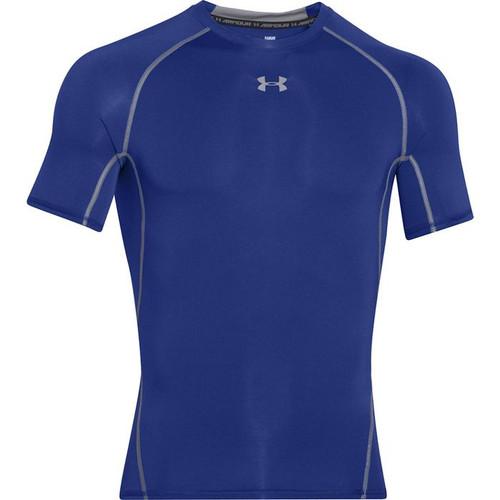 Cov Cath Baseball Royal UA HeatGear Armour Short Sleeve Compression Shirt
