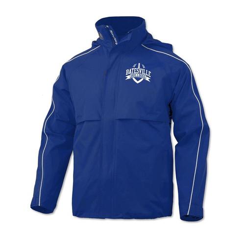 Batesville Football Men's Royal Waterproof Rain Stop Jacket