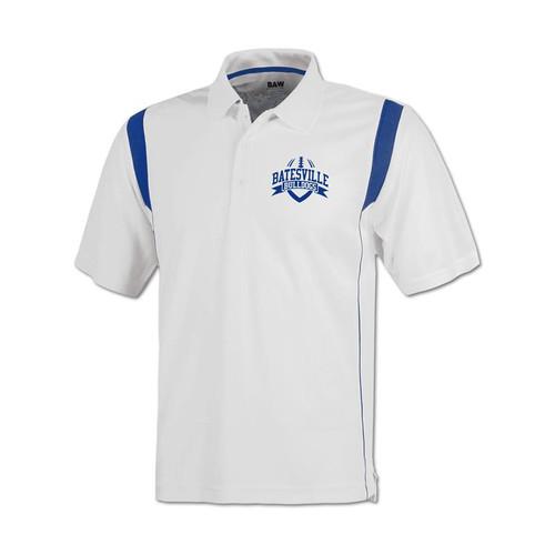 Batesville Football Men's White/Royal Coaches Polo Shirt