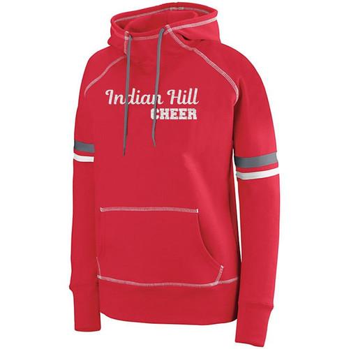ndian Hill Cheerleading Ladies Red/White/Graphite Spry Glitter Hoody