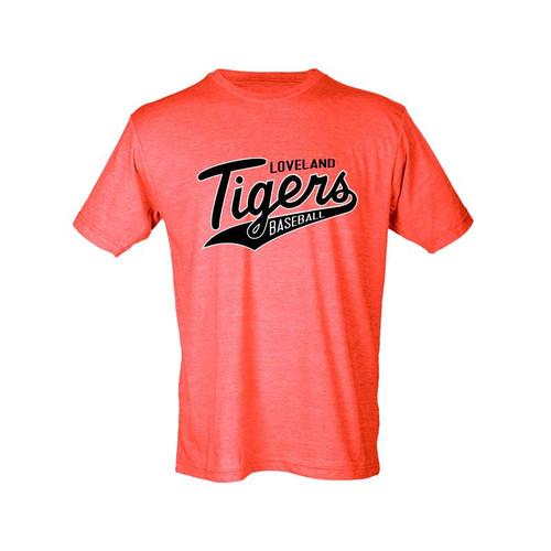 Loveland Tigers Baseball Men's Orange Blend T-Shirt