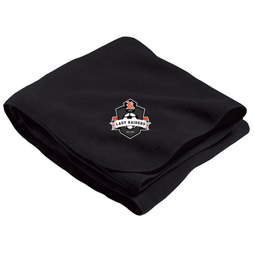 Ryle Lady Raiders Soccer Black Stadium Blanket