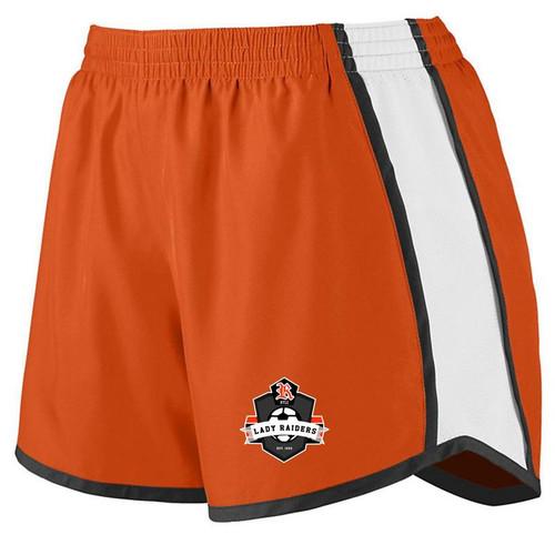 Ryle Lady Raiders Soccer Orange/White/Black Ladies Junior Fit Pulse Short
